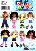 Simplicity 5745 Crafts Sewing Pattern Dizzle Dolls Doll Clothes
