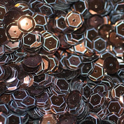 8mm CUP SEQUINS Brown Bronze Loose sequins for embroidery, applique, arts, crafts, and embellishment.