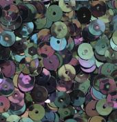 8mm CUP SEQUINS BLACK IRIS RAINBOW Loose sequins for embroidery, applique, arts, crafts and embellishment.