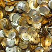 8mm CUP SEQUINS Matte Gold Loose sequins for embroidery, applique, arts, crafts, and embellishment.