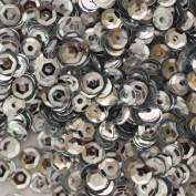 4mm CUP SEQUINS Silver Loose sequins for embroidery, applique, arts, crafts, and embellishment.