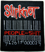 Slipknot Bar Code Rock Music Band Patches Embroidered Iron on Patch 7x8 Cm