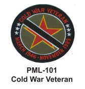10cm Embroidered Millitary Large Patch Cold War Veteran