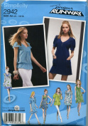 SIMPLICITY PATTERN 2942 PROJECT RUNWAY JUNIORS' PLUS DRESS, MINI DRESS AND TUNICWITH SLEEVE VARIATIONS SIZE AA 5/6-15/16