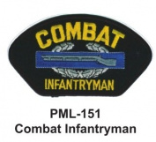 10cm Embroidered Millitary Large Patch Combat Infantryman