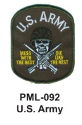 10cm Embroidered Millitary Large Patch U.S. Army