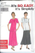 Simplicity Misses TOP and SKIRT Sewing Pattern 9277 Size A - XS-S-M-L-XL