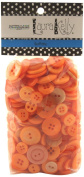 Buttons Galore Hand Dyed Buttons, 160ml, Outrageous Orange