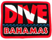 Dive Bahamas Patch Embroidered Iron On Scuba Diving Flag Emblem Souvenir