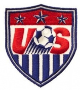 USA Fifa World Cup Soccer Iron on Patch Crest Badge ... 6.4cm X 5.7cm ... New