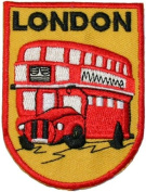London Double Decker Bus Travel Souvenir Embroidered iron on Patch