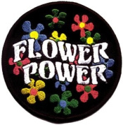 Flower Power Daisy Hippie Embroidered Iron On Patch