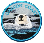 Oregon Coast Sea Otter Animal Travel Souvenir Embroidered iron on Patch