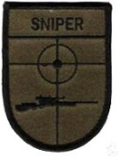 Sniper OD Green Iron On Patch