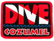 Dive Cozumel Patch Embroidered Iron On Scuba Diving Flag Emblem Souvenir