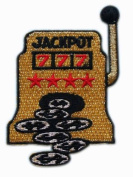 ID #0044 Casino Slot Machine Embroidered Iron On Applique Patch
