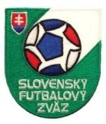 Slovakia Slovensky Futbalovy Zvaz Fifa World Cup Soccer Iron on Patch Crest Badge ... 5.7cm X 7cm .. New