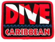 Dive Caribbean Patch Embroidered Iron On Scuba Diving Flag Emblem Souvenir