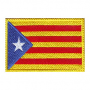Catalunya Estelada Flag Embroidered Sew on Patch