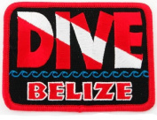 Dive Belize Patch Embroidered Iron On Scuba Diving Flag Emblem Souvenir