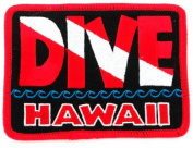 Dive Hawaii Patch Embroidered Iron On Scuba Diving Flag Emblem Souvenir