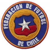 Chile Federacion De Futbol Round Fifa World Cup Soccer Iron on 7.6cm Patch Crest Badge ... New