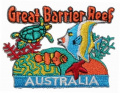 Great Barrier Reef Australia Travel Souvenir Embroidered Iron On Patch