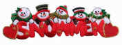 ID #8008 Snowmen Christmas Xmas Holiday Embroidered Iron On Applique Patch