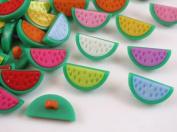 100pc Mix Watermelon Plastic Button Backhole Craft