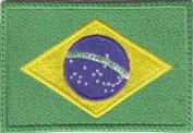 Brazil Flag Embroidered Sew on Patch