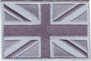 British UK Grey Colour Flag Embroidered Sew on Patch