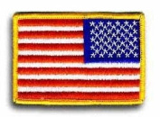 American Flag Reverse 8.9cm x 6.4cm Patch
