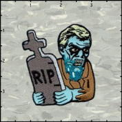 Chuck Waggon Artist Patch - RIP Zombie Dude Logo