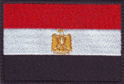 Egypt Flag Embroidered Sew on Patch