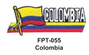2.5cm - 1.3cm X 10cm - 1.3cm Flag Embroidered Patch Colombia