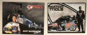 2007 - NHRA - David Powers Motorsports - Matco Tools Racing - Whit Bazemore / Iron Eagle Top Fuel Dragster & Dodge Funny Car Promo Cards - Mopar / Hemi - Valspar - New - Rare - Collectible