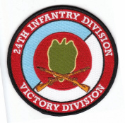 24th Infantry Division with Rifles Patch