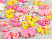 30pc Mix Resin Bow Flatback the Scrapbooking DIY Craft Applique Hot