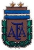 Argentina AFA with Green Leaf Fifa World Cup Soccer Iron on Patch Crest Badge ... 7cm X 5.1cm .. New