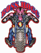 Boss Hog Hogg Embroider Motorcycle Biker Iron On Patch