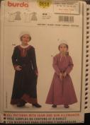 BURDA PATTERN 9658 HISTORIC DRESS, ROBE SIZE 3-8