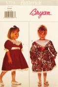 BUTTERICK 3770 GIRL'S DRESS (SIZE 5-6-6X) BRYAN SEWING PATTERN