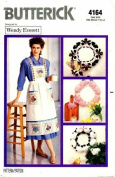Butterick 4164 Crafts Sewing Pattern Wendy Everett Wreaths Apron Jacket