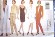 Butterick Sewing Pattern 5034 Misses' Business Wardrobe - Jacket, Dress, Top & Pants, Size 14-16-18