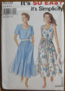 Simplicity Pattern 8258 It's So Easy Misses' Dress and Belt Sizes 8 - 18