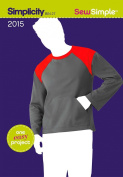 Simplicity SewSimple 2015, Men's Knit Top, Size A