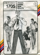 Stretch & Sew Pattern 1705 ~ Men's Pants and Shorts