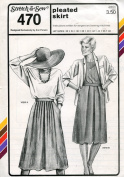 Stretch & Sew Pattern 470 ~ Ladies' Pleated Skirt ~ Hip 32-48