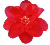 Cuteque International 6-Piece Embellished Flower Sequin Embellishment, Red