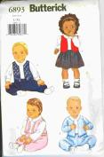 New Butterick Pattern-Infant's Jumpsuit and Dress-6893-Size L-XL